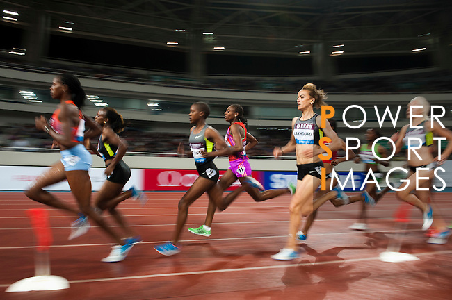 SHANGHAI, CHINA - MAY 19:  Athletes compete in the Women 1500m Steeplechase during the Samsung Diamond League on May 19, 2012 at the Shanghai Stadium in Shanghai, China.  Photo by Victor Fraile / The Power of Sport Images
