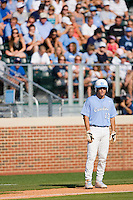 Dustin Ackley #13 of the North Carolina Tar Heels takes his lead off of third base against the Coastal Carolina Chanticleers at Boshamer Stadium May 30, 2010, in Chapel Hill, North Carolina.  Photo by Brian Westerholt / Four Seam Images