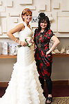 Rebecca Sexton with Dara Caffrey (Frilly Frocks) at the City North Wedding Fair...Picture Jenny Matthews/Newsfile.ie