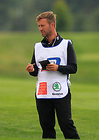 Bernd Ritthammer (GER) caddy on the 5th fairway during Round 3 of the D+D Real Czech Masters at the Albatross Golf Resort, Prague, Czech Rep. 02/09/2017<br /> Picture: Golffile | Thos Caffrey<br /> <br /> <br /> All photo usage must carry mandatory copyright credit     (&copy; Golffile | Thos Caffrey)