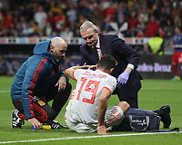 Spanish forward Diego Costa injured<br /> Spain vs Argentina selections team pre Russian Soccer World Cup football match at Wanda Metropolitano stadium in Madrid on March 27, 2018.