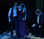 "Corey Cott, Laura Osnes and John Treacy Egan performing during the MCP Production of ""The Scarlet Pimpernel"" Concert at the David Geffen Hall on February 18, 2019 in New York City."