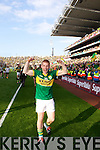Pa Killkenny celebrates after defeating Donegal in the GAA All Ireland Senior Football Championship final.
