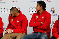 Karim Benzema participates and receives new Audi during the presentation of Real Madrid's new cars made by Audi in Madrid. December 01, 2014. (ALTERPHOTOS/Caro Marin) /Nortephoto