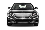 Car photography straight front view of a 2016 Mercedes Benz S-Class S550-PLUG-IN-HYBRID 4 Door Sedan Front View