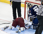 Brian Gibbons (BC - 17), Garrett Sheehan (Toronto - 35) - The Boston College Eagles defeated the visiting University of Toronto Varsity Blues 8-0 in an exhibition game on Sunday afternoon, October 3, 2010, at Conte Forum in Chestnut Hill, MA.