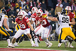 Wisconsin Badgers running back Jonathan Taylor (23) carries the ball during an NCAA College Big Ten Conference football game against the Iowa Hawkeyes Saturday, November 11, 2017, in Madison, Wis. The Badgers won 38-14. (Photo by David Stluka)