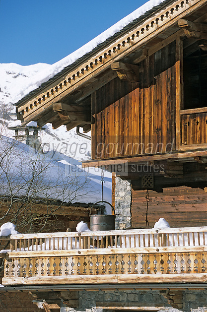 Europe/France/73/Savoie/Val d'Isère: détail , Chalet de la sation