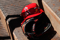 Sports glasses, sunglasses and a red cap from the California Angels Surprise Stadium. Cactus league 2012. Surprise Stadium.<br />
