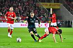 04.11.2018, Opel-Arena, Mainz, GER, 1 FBL, 1. FSV Mainz 05 vs SV Werder Bremen, <br /> <br /> DFL REGULATIONS PROHIBIT ANY USE OF PHOTOGRAPHS AS IMAGE SEQUENCES AND/OR QUASI-VIDEO.<br /> <br /> im Bild: Johannes Eggestein (SV Werder Bremen #24), gegen Aaron Martin (#3, FSV Mainz)<br /> <br /> Foto © nordphoto / Fabisch