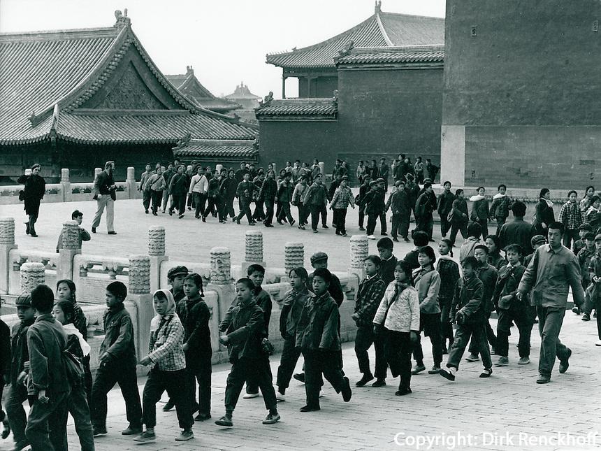 Schulklasse im Kaiserpalast, China 1976