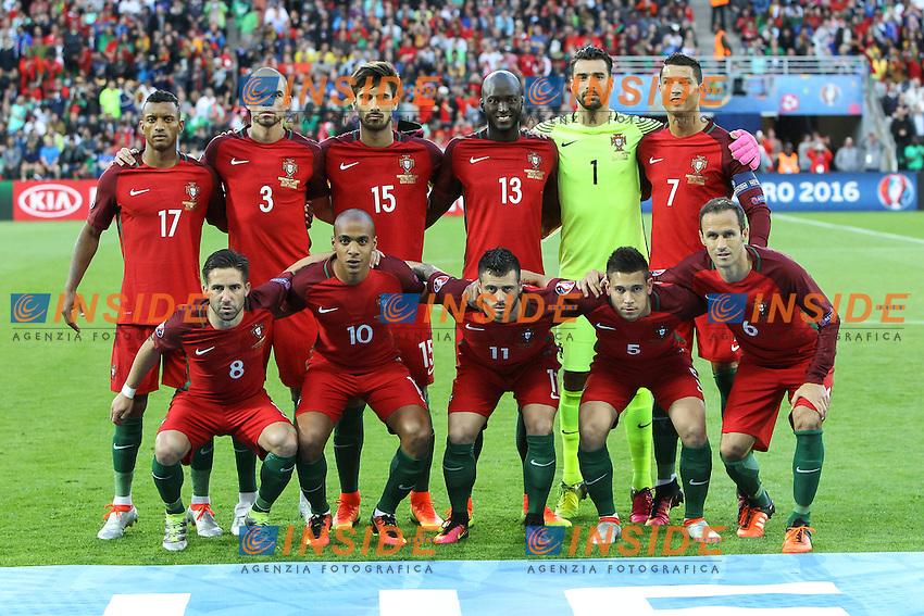 Formazione Portogallo Team Line Up Portugal <br /> Saint-Etienne 14-06-2016 Stadium Geoffroy-Guichard Football Euro2016 Portugal-Iceland / Portogallo-Islanda Group Stage Group F<br /> Foto Daniel Chesterton / PHC / Panoramic / Insidefoto