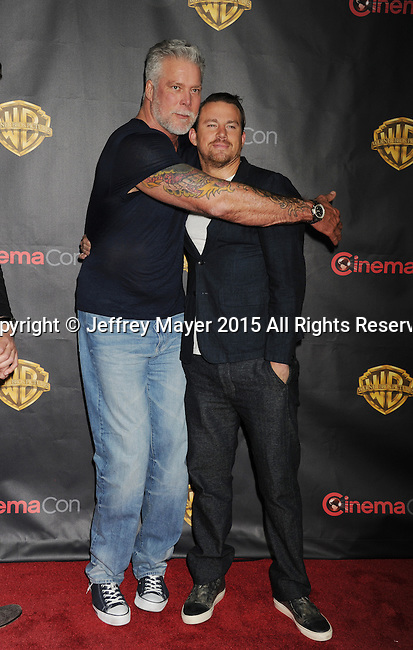 LAS VEGAS, CA - APRIL 21: Actors Kevin Nash (L) and Channing Tatum arrive at Warner Bros. Pictures Invites You to ?The Big Picture at The Colosseum at Caesars Palace during CinemaCon, the official convention of the National Association of Theatre Owners, on April 21, 2015 in Las Vegas, Nevada.