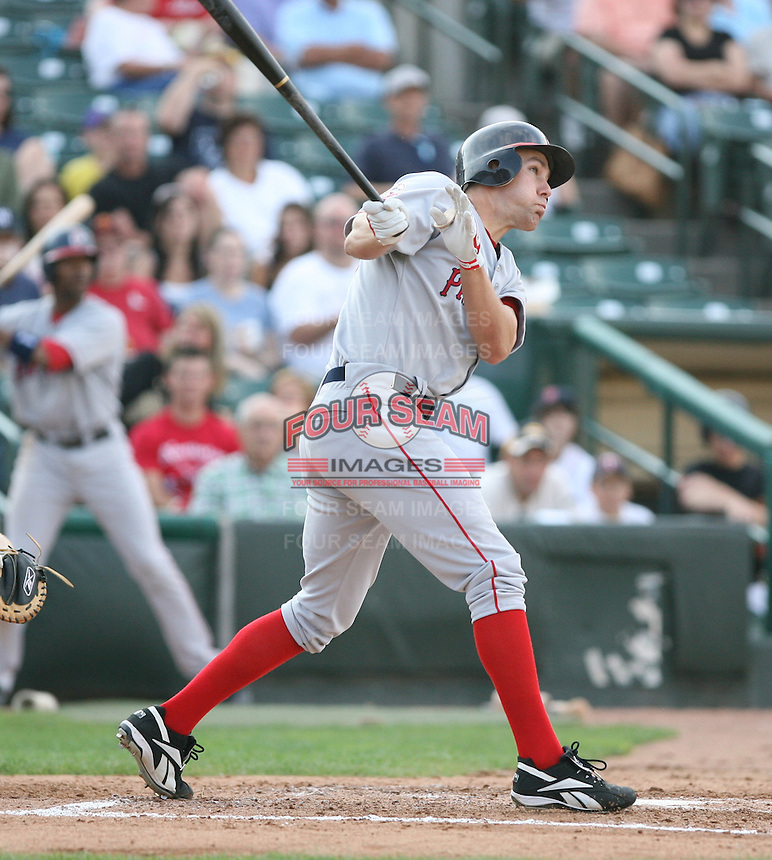 2007:  David Murphy of the Pawtucket Red Sox, Class-AAA affiliate of the Boston Red Sox, during the International League baseball season.  Photo by Mike Janes/Four Seam Images