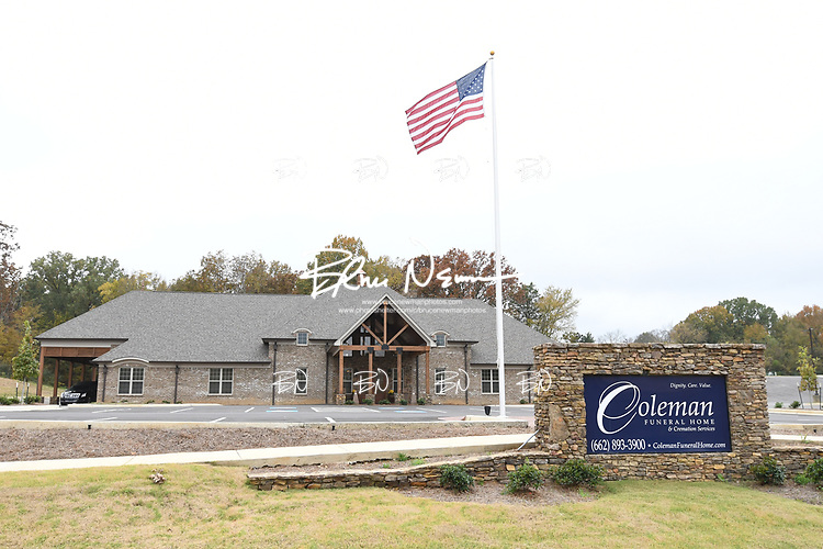 Coleman Funeral Home in Olive Branch, Miss. on Tuesday, November 7, 2017.