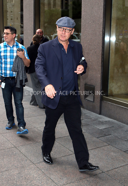 ACEPIXS.COM<br /> <br /> September 22 2014, New York City<br /> <br /> Actor James Spader was a guest at Sirius Radio on September 22 2014 in New York City<br /> <br /> <br /> By Line: Zelig Shaul/ACE Pictures<br /> <br /> ACE Pictures, Inc.<br /> www.acepixs.com<br /> Email: info@acepixs.com<br /> Tel: 646 769 0430
