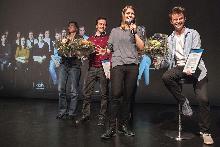 Verleihung Essaypreis 2016. Till Beer gewinnt den ertsen Preis. © Adrian Moser