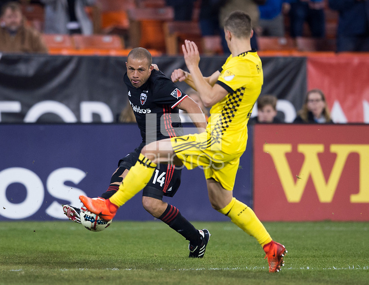 Washington, DC - March 18, 2017: Columbus Crew SC defeated D.C. United 2-0 during a Major League Soccer (MLS) match at RFK Stadium.