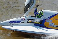 Winner Kris Shepard, (#46) celebrates victory. (SST-120 class)