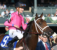Lexington KY - October 6  Heavenly Love wins the 66th running of the Darley Alcibiades (Grade 1) for owner Debby Oxley, trainer Mark Casse and jockey Julien Leparoux.  October 6, 2017