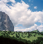 Dolomites in Northern Italy in summer