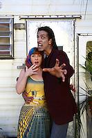 "Staci Layne Wilson, Aron Kai<br /> On The Set Of Blanc/Biehn Production's ""Fetish Factory,"" Private Location, Los Angeles, CA 05-11-14<br /> David Edwards/DailyCeleb.com 818-249-4998"