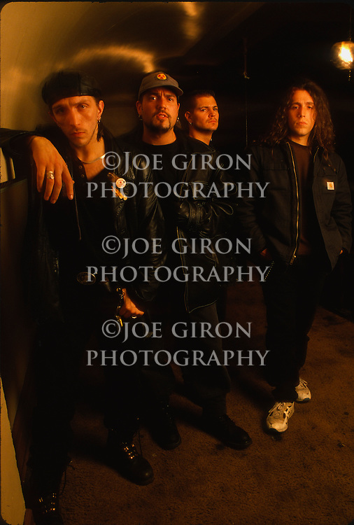 Various portrait sessions of the rock band, Biohazard.
