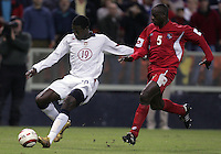 Eddie Johnson, left, Jose Anthony Torres, right, Panama vs USA, World Cup qualifier at RFK Stadium, 2004.