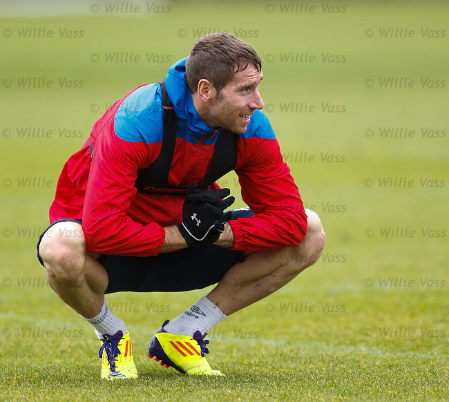 Kirk Broadfoot having a stretch