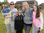 Jean and Ava Byrne, Lisa, Evan, and Leah Roche at the 10th anniversary celebrations of McArdle Green estate in Moneymore. Photo:Colin Bell/pressphotos.ie