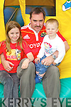 FAMILY DAY: Zara, Declan and Ethan Chambers, Camp having fun at the Camp Family Fun Day on Sunday..