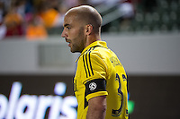 CARSON, CA - March 2, 2013: Columbus forward Federico Higuain (33) during the Chivas USA vs Columbus Crew match at the Home Depot Center in Carson, California. Final score, Chivas USA 0, Columbus Crew 3.