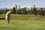 Man playing golf, Denver, Colorado