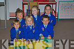 BRICKS: Children who attended Asdee NS for the fiorst time playing with their bricks as their school on Wednesday. l-r: Ellen Carroll Griffin, Eadaoin O'Carroll, Jack Duffy, Cillian Collins,Maebh mcEntree and Jessica Dee.... ....