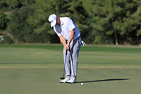 Ross McGowan (ENG) on the 13th green during Round 3 of the Challenge Tour Grand Final 2019 at Club de Golf Alcanada, Port d'Alcúdia, Mallorca, Spain on Saturday 9th November 2019.<br /> Picture:  Thos Caffrey / Golffile<br /> <br /> All photo usage must carry mandatory copyright credit (© Golffile | Thos Caffrey)