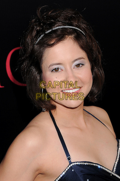 "TAMARA GARFIELD.""Prom Night"" Los Angeles Premiere at the Cinerama Dome, Hollywood, California, USA..April 9th, 2008.headshot portrait alice band blue eyeshadow halterneck.CAP/ADM/BP.©Byron Purvis/AdMedia/Capital Pictures."