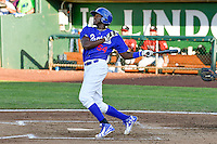 Ibandel Isabel (54) of the Ogden Raptors at bat against the Idaho Falls Chukars in Pioneer League action at Lindquist Field on June 28, 2016 in Ogden, Utah. The Raptors defeated the Chukars 12-11. (Stephen Smith/Four Seam Images)