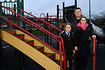 Dominic Carthy with Grace and Hazel at Dominic's Park Playground...Photo NEWSFILE/Jenny Matthews..(Photo credit should read Jenny Matthews/NEWSFILE)