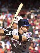 Washington, D.C. - October 1, 2006 -- New York Mets third baseman David Wright (5) bats during the game against Washington Nationals at RFK Stadium in Washington, D.C. on October 1, 2006.  <br /> Credit: Ron Sachs / CNP