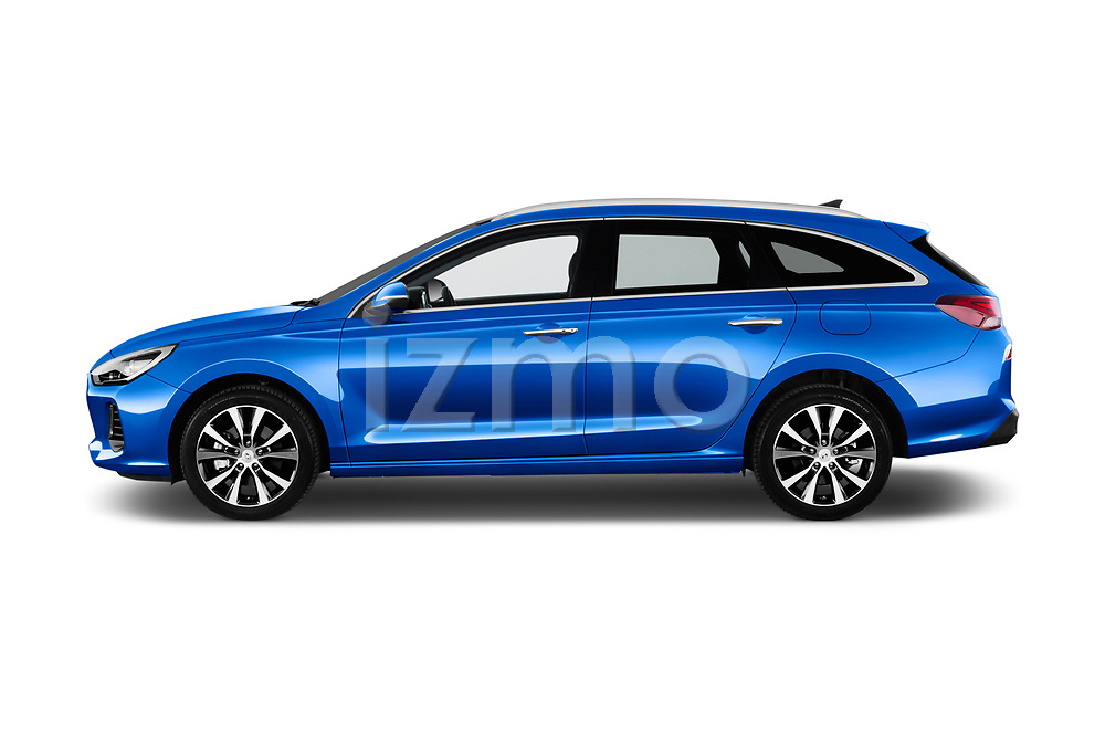 Car driver side profile view of a 2018 Hyundai i30 Sky 5 Door Wagon