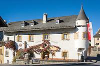 Austria, East-Tyrol, High Tauern National Park, Virgen Valley, Virgen: Restaurant Neuwirt at village centre   Oesterreich, Osttirol, Nationalpark Hohe Tauern, Virgental, Virgen: Gasthof Neuwirt im Ortszentrum