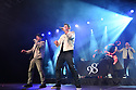 COCONUT CREEK, FL - FEBRUARY 28: (L-R) Justin Jeffre, Nick Lachey and Drew Lachey of 98 Degrees perform on stage at Seminole Casino Coconut Creek on February 28, 2020 in Coconut Creek, Florida. ( Photo by Johnny Louis / jlnphotography.com )