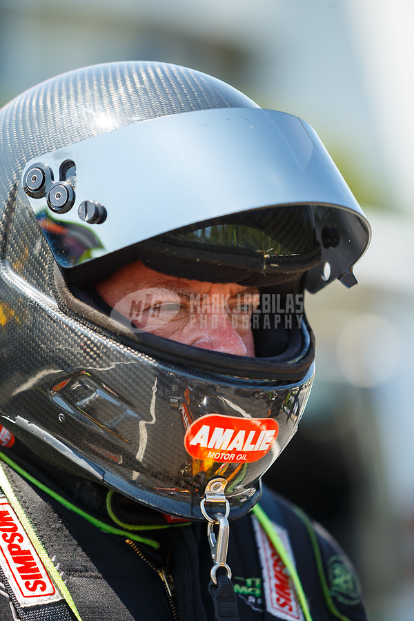 May 6, 2017; Commerce, GA, USA; NHRA top fuel driver Terry McMillen during qualifying for the Southern Nationals at Atlanta Dragway. Mandatory Credit: Mark J. Rebilas-USA TODAY Sports