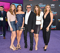 Sylvester Stallone, Jennifer Flavin &amp; Daughters at the world premiere for &quot;Guardians of the Galaxy Vol. 2&quot; at the Dolby Theatre, Hollywood. <br /> Los Angeles, USA 19 April  2017<br /> Picture: Paul Smith/Featureflash/SilverHub 0208 004 5359 sales@silverhubmedia.com
