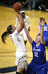 Nevada's Teige Zeller shoots over Air Force's Taylor Parker during a women's basketball game in Reno, Nev., on Saturday, Jan. 9, 2016. Nevada won 68-57.<br /> Photo by Cathleen Allison