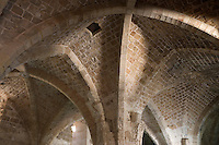 Asie/Israël/Galilée/Saint-Jean-d'Acre: les salles gothiques voutées de l'ancienne ville croisée
