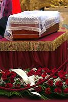 Il feretro<br /> Roma 28-09-2015 Camera dei Deputati.  Camera ardente di Pietro Ingrao, morto all'eta' di 100 anni.<br /> Burial Chamber for Pietro Ingrao, leader of the Italian Comunist Party, died at the age of 100-<br /> Photo Samantha Zucchi Insidefoto