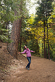 USA, Oregon, Ashland, portait of a Russian dancer in Lithia Park in the Fall