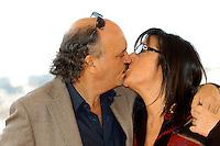 """CLAUDIO FRAGASSO & ROSSELLA DRUDI.Photocall for """"Milano-Palermo: il ritorno"""", Rome, Italy..November 15th, 2007.headshot portrait kiss kissing glasses.CAP/CAV.©Luca Cavallari/Capital Pictures."""