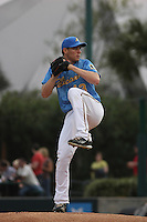 Myrtle Beach Pelicans pitcher Neil Ramirez #13 on the mound during the opening game of the season against the Wilmington Blue Rocks at BB&T Coastal Field in Myrtle Beach, SC on April 8, 2011.   Photo By Robert Gurganus/Four Seam Images
